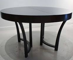 picturesque odyssey modern 40 round black dining table eurway of