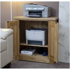 Hidden Printer Cabinet Kingston Solid Oak Office Computer Furniture Printer Storage
