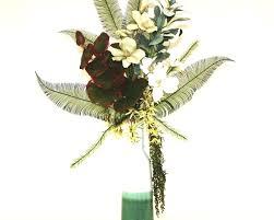 Silk Arrangements For Home Decor Handmade Tropical Decor Large Silk Flower Arrangement Floral Home