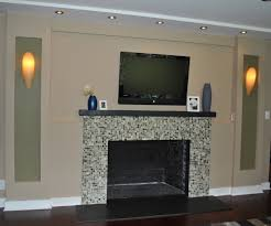 large size of le glass tiled in firebrick wooden mantel shelf in stone mosaic fireplace design