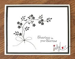Sharing In Your Sorrow Sympathy Card By Inked Love Cards