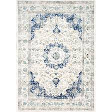 projects ideas blue and white area rugs 4