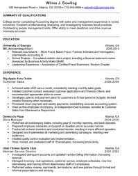 Senior Accounting Resume Sample