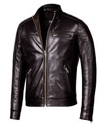 designer biker black leather jacket mens genuine leather jackets