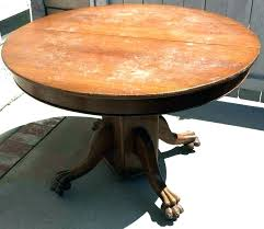 antique round table with claw feet claw foot oak dining table antique