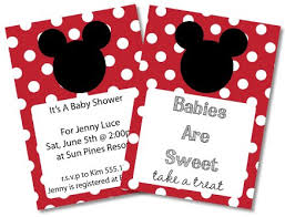 Mickey Mouse Baby Shower Invitation Free Mickey Mouse Ba Shower