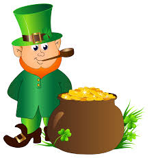leprechaun with pot of gold transparent png clip art image        leprechaun   pot of gold transparent png clip art image  is  view full size