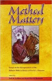 method matters essays on the interpretation of the hebrew bible  7243855
