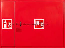 fire hose reel extinguisher cabinet metal two door cabinet