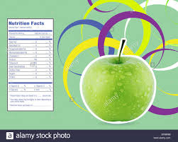 Green Apple Nutrition Chart Creative Design For Green Apple With Nutrition Facts Label