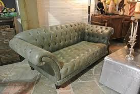 Sage Sofa vintage sage green leather chesterfield sofa home alchemy 7662 by guidejewelry.us