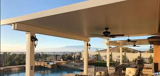 it is still standing to this day looks new and provides shade and functionality for the backyard another great aspect of aluminum patio covers is that