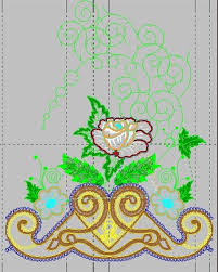 Machine Embroidery Patterns Inspiration Bed Sheet Decor Embroidery Designs Free Machine Embroidery Designs