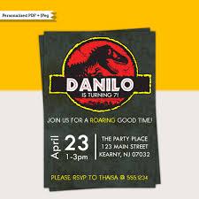 Jurassic Park Invitations Jurassic Park Dinosaurs Dino Mite Birthday Party Printable Invitations