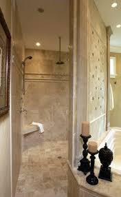 Walk In Shower No Door Design Ideas, Hidden behind wall of tub