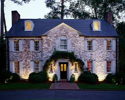 online lighting design software free. outdoor architectural lighting perspectives of a whitewashed brick facade on this georgian style house online design software free