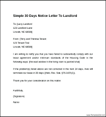 Oh Residential Lease 30 Day Rental Termination Letter Sample ...