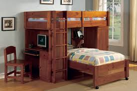 image of bunk bed with desk inspired