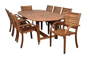 remarkable eucalyptus outdoor furniture ia livorno 9 piece square wood patio dining set bt