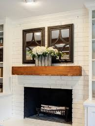 fixer upper a fresh update for a 1962 shingle shack wood mantle fireplacefireplace ideaswood mantelswhite painted