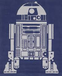 the r2 d2 area rug is hand tufted from blue and grey wool and is the perfect thing to round out any star wars themed space