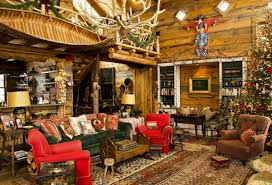 Xmas Decoration For Living Room Decorations Rustic Log Home With Christmas Decoration Alongside