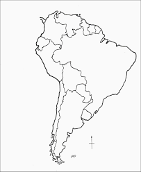 Top Blank Map Of North And South America 8 Link Italia Org