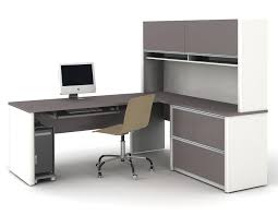 bestar l shaped desk with hutch connexion and