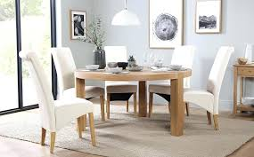 richmond dining table round oak and 6 chairs set cream gumtree