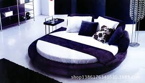 Hotel theme hotel bed electric heated water bed fun bed fun big round red  bed electric mattress