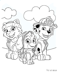 Free Paw Patrol Coloring Pages To Print Printable Sheet Inside