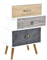 round side table with drawers small of chest drawers retro bedside table storage unit round bedside
