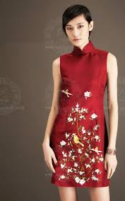 Embroidery Cheongsam Custom Made Cheongsam Chinese Clothes