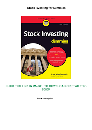 READ Stock Investing For Dummies by Hangout126 - issuu