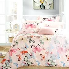 luxury erfly queen king size bedding sets pink quilt duvet cover sheets bed in a bag