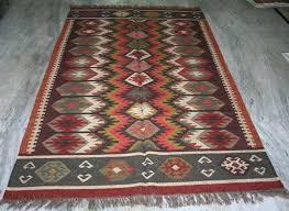 kilim area rug wool jute carpet free post turkish kilim area rug