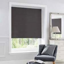 Charcoal Chenille Thermal Roller Blind Dunelm Best Blackout - Blackout bedroom blinds