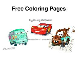 Small Picture FREE Disney Cars Coloring Pages