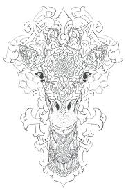 Coloring Pages Of A Giraffe Adult Coloring Pages Giraffe Mandala