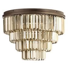 crystal prism bar flush ceiling light rust free delivery