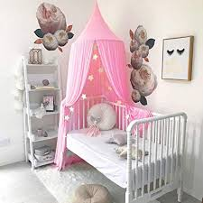 Tasera Bed Canopy, Mosquito Net Canopy Yarn Play Tent for Kids Playing Reading with Children Dome Netting Curtains Baby Boys and Girls Indoor Games ...