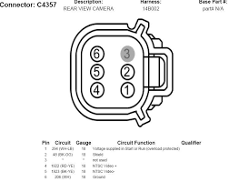 added oem backup camera and mirror diesel forum thedieselstop com Ford F150 Rear View Mirror Wiring Diagram click image for larger version name 2008cameraconnector jpg views 27797 size 42 9 2010 ford f150 rear view mirror wiring diagram