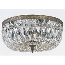 crystal flush mount ceiling light lighting on intended for modern chandelier idea 17