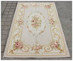 aubusson rug grey gold pink