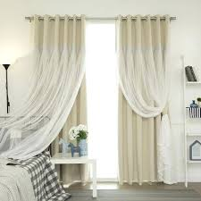 curtains panel pair aurora home lace overlay propose blackout grommet top curtain pairs