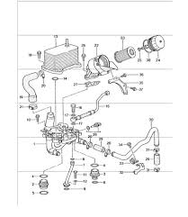 radiator oil cooler on engine porsche 996 turbo 996 gt2 996 gt3 oil filter bracket 996 gt3 1 m96 76 2000 01 and 996 gt3