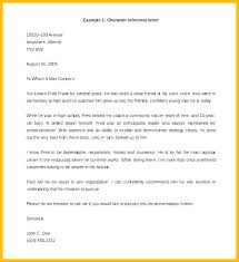 Sample Of Recommendation Letter Adorable Sample Character Reference Format Resume References Examples In