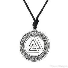 whole valknut odin s symbol of norse viking warrior amulet pendant adjule chain necklaces men religious jewelry single diamond pendant necklace