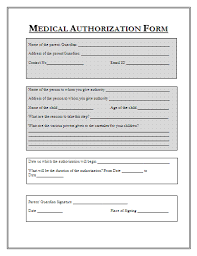 Printable Medical Release Form For Children Beauteous Sample Medical Authorization Form Templates Printable Medical