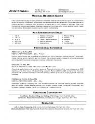 Professional Office Clerk Resume Sample Template For Entry